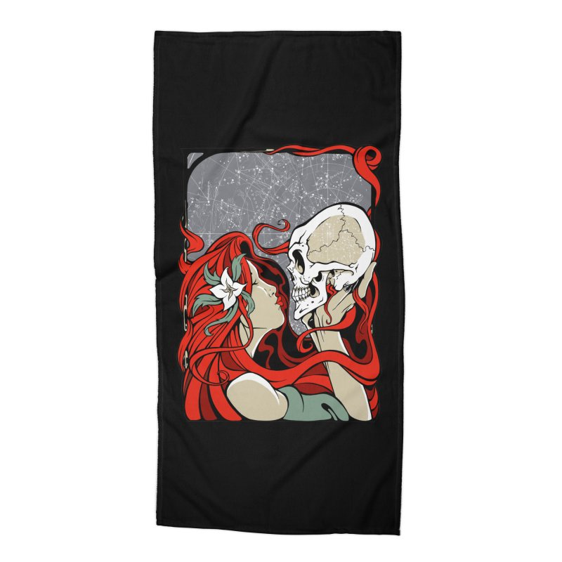 SkullKiss Accessories Beach Towel by The Art of JCooper