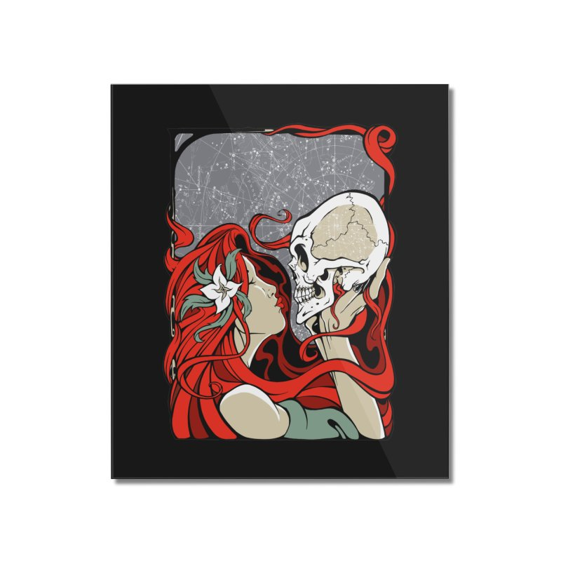 SkullKiss Home Mounted Acrylic Print by The Art of JCooper