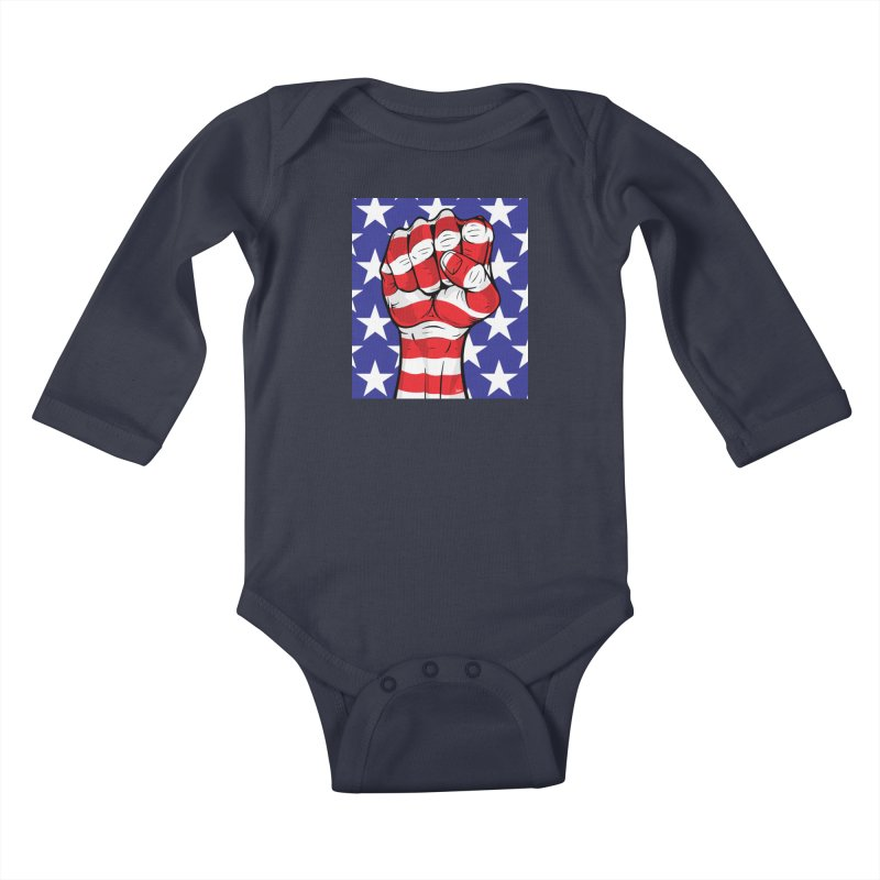 Fist Kids Baby Longsleeve Bodysuit by The Art of JCooper