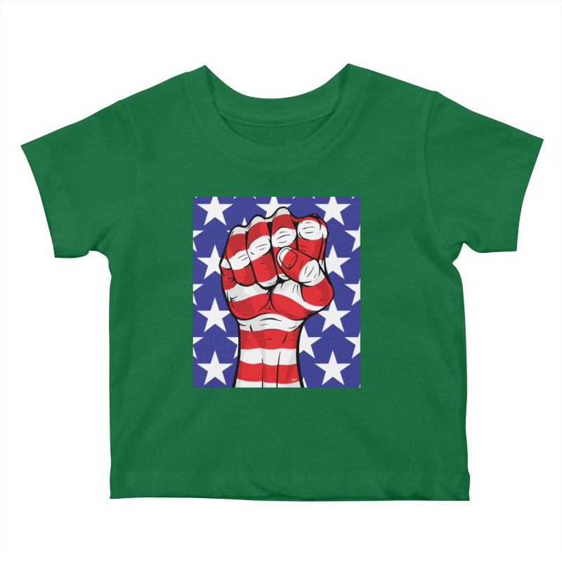 Fist Kids Baby T-Shirt by The Art of JCooper