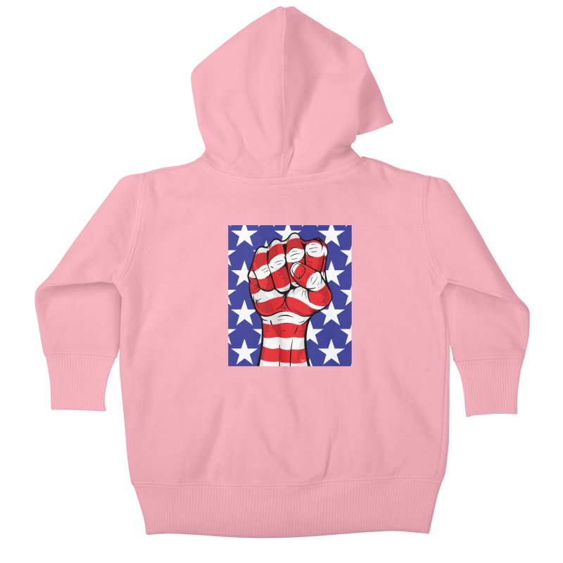 Fist Kids Baby Zip-Up Hoody by The Art of JCooper
