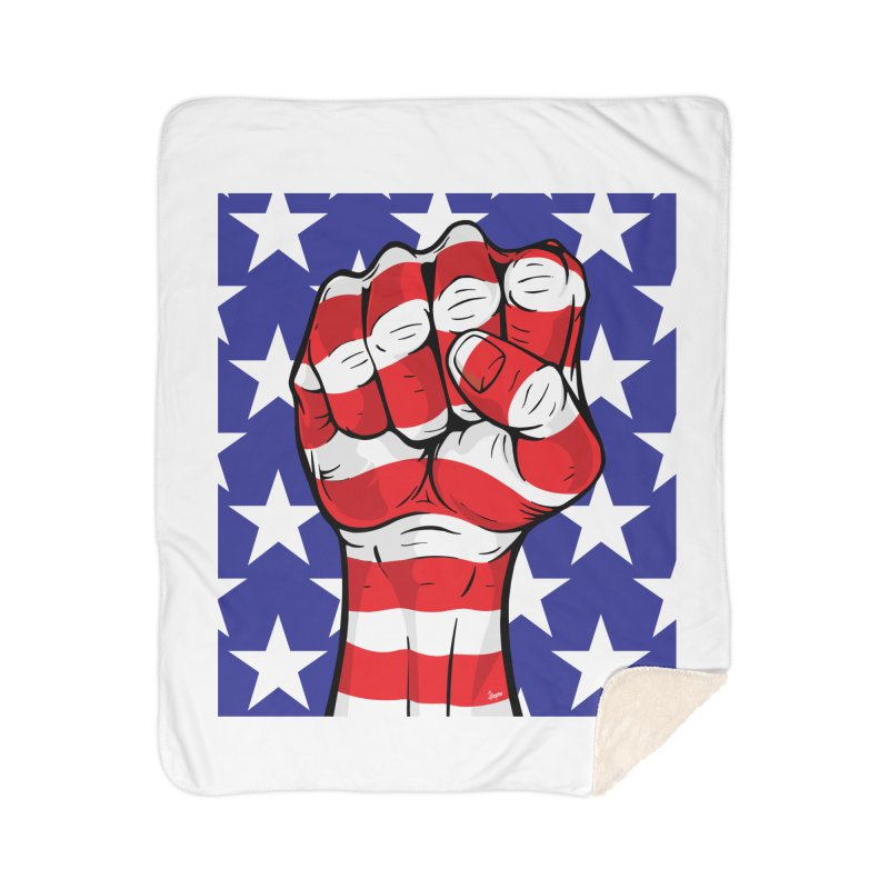 Fist Home Blanket by The Art of JCooper
