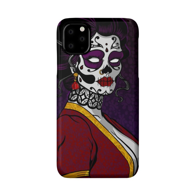 SugarSkull Lady phone case Accessories Phone Case by The Art of JCooper
