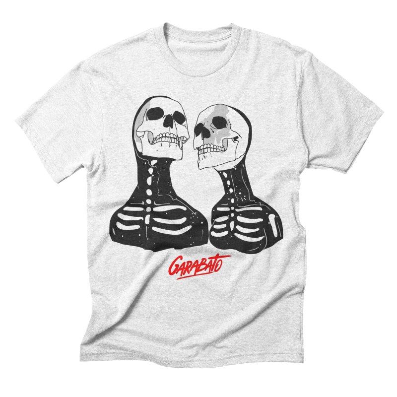 Garabato in Men's Triblend T-shirt Heather White by Rebel Mulata