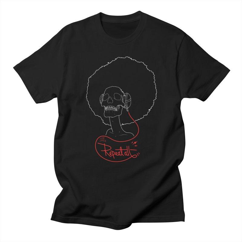 Repeat All Men's Regular T-Shirt by Rebel Mulata