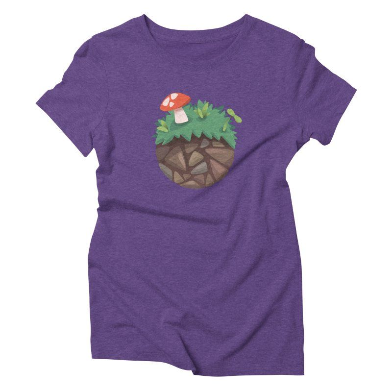 Grass Planetoid Women's T-Shirt by jcskillings's Artist Shop