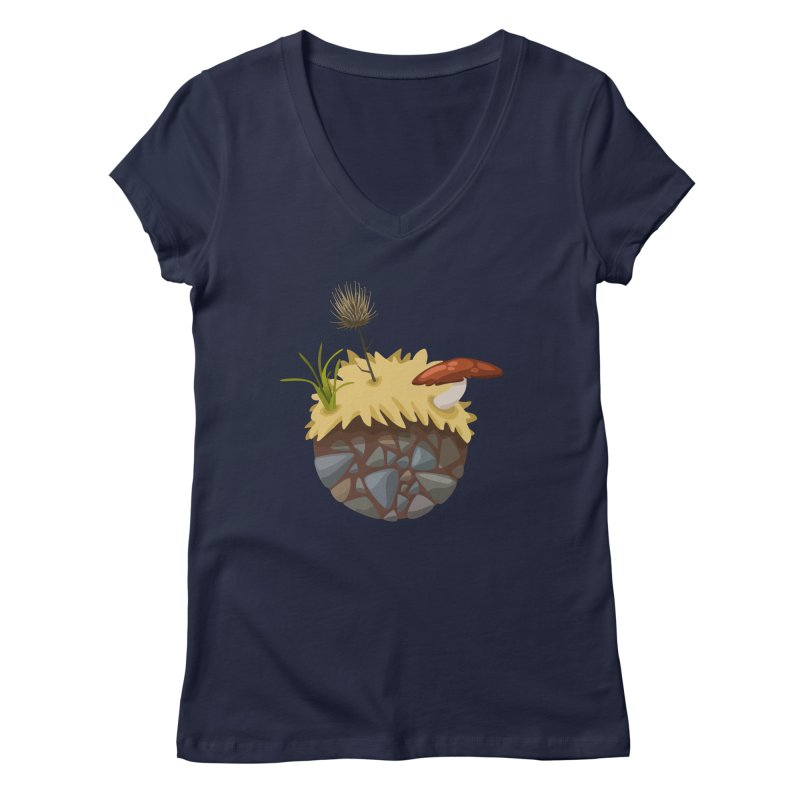 Prairie Planetoid Women's V-Neck by jcskillings's Artist Shop