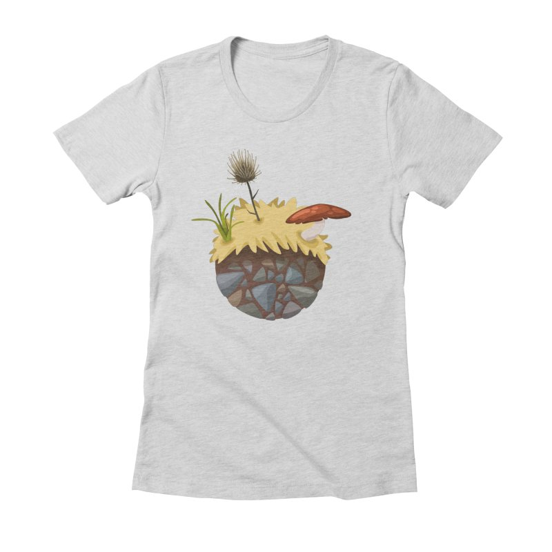 Prairie Planetoid Women's Fitted T-Shirt by jcskillings's Artist Shop