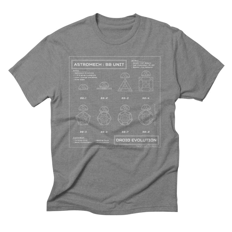 Astromech Evolution Men's Triblend T-Shirt by J D STONE