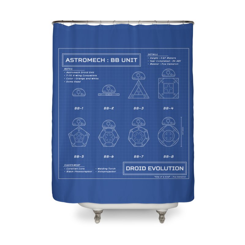 Astromech Evolution Home Shower Curtain by J D STONE