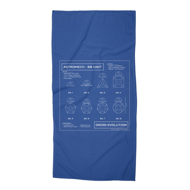Astromech Evolution Accessories Beach Towel by J D STONE