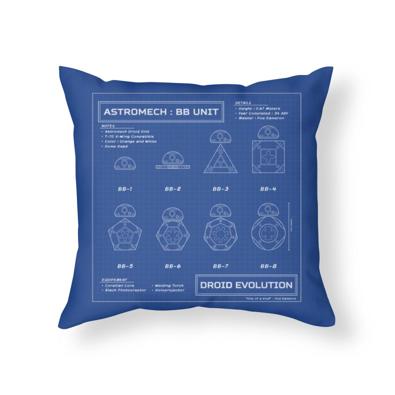 Astromech Evolution Home Throw Pillow by J D STONE