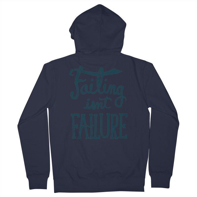 Failure Isn't Failing Men's Zip-Up Hoody by J D STONE