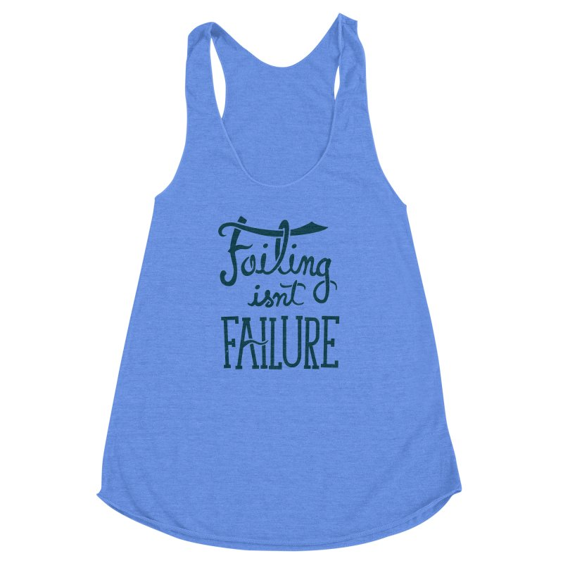 Failure Isn't Failing Women's Racerback Triblend Tank by J D STONE