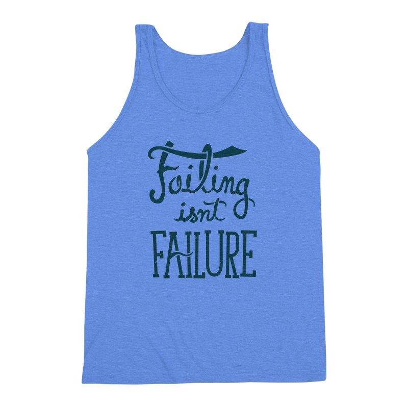 Failure Isn't Failing Men's Triblend Tank by J D STONE