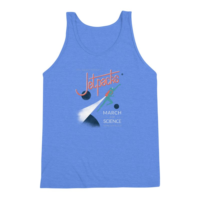 Why Support Science?  Jetpacks! Men's Triblend Tank by J D STONE