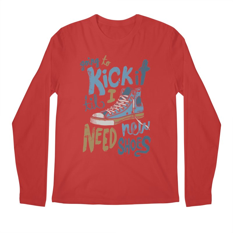 Kick It Men's Longsleeve T-Shirt by J D STONE