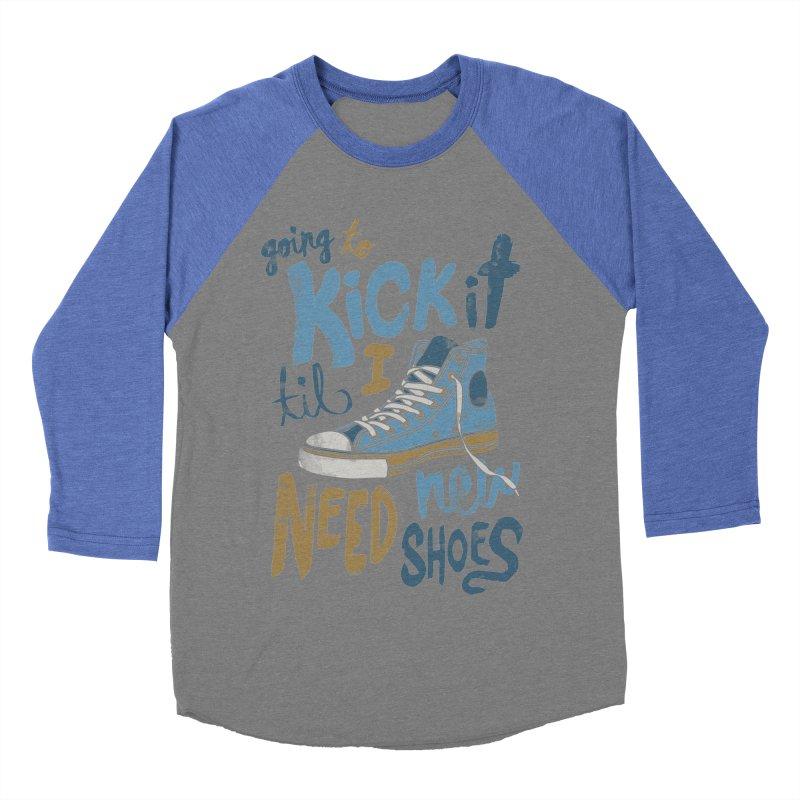 Kick It Women's Baseball Triblend T-Shirt by J D STONE
