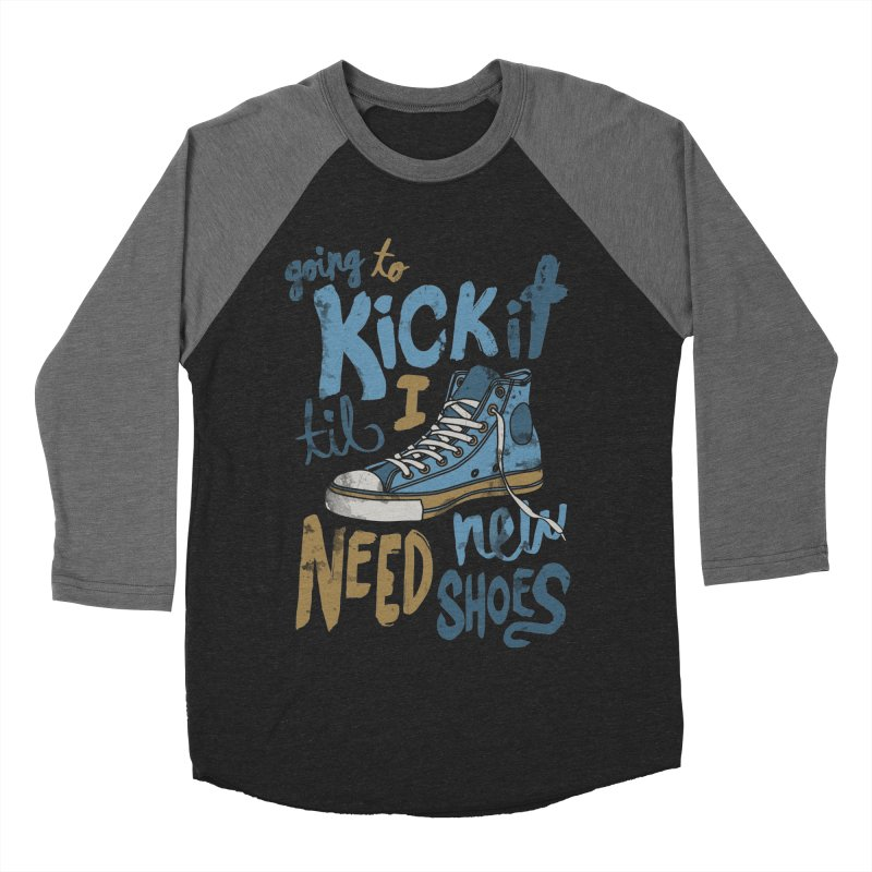Kick It Men's Baseball Triblend T-Shirt by J D STONE