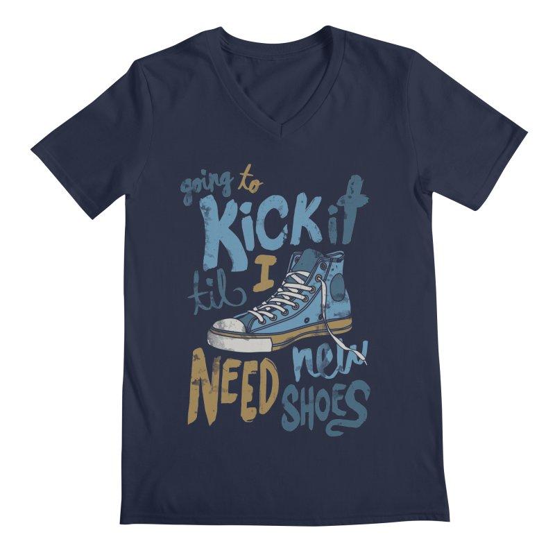 Kick It Men's V-Neck by J D STONE
