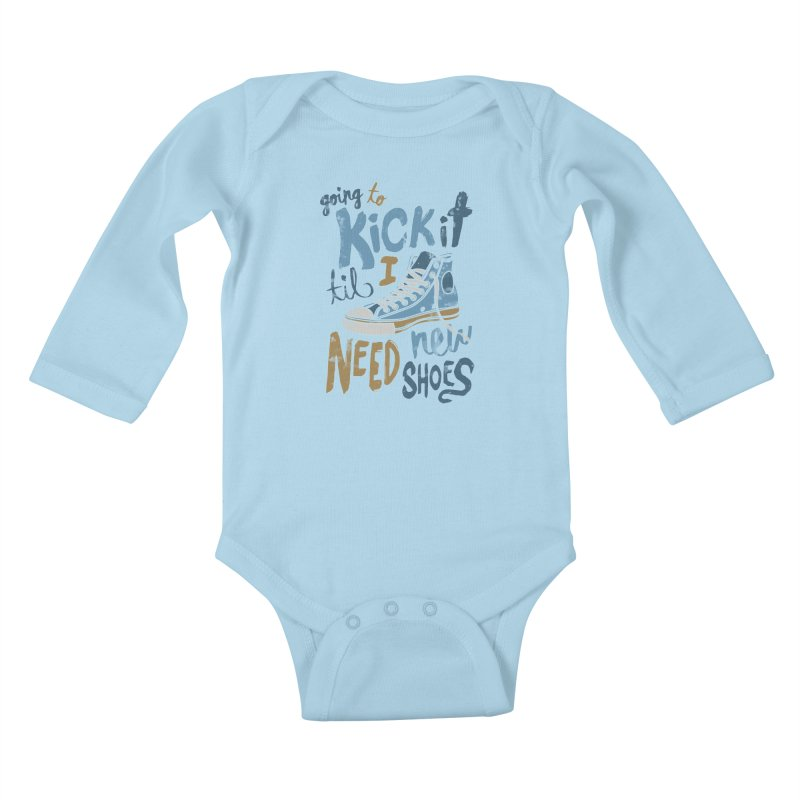 Kick It Kids Baby Longsleeve Bodysuit by J D STONE