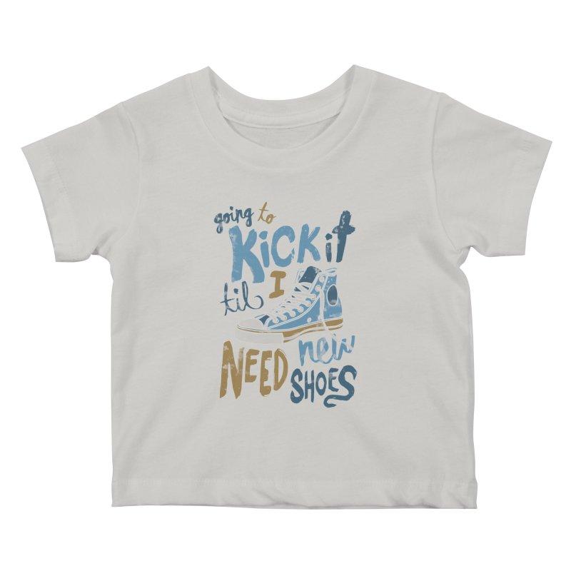 Kick It Kids Baby T-Shirt by J D STONE