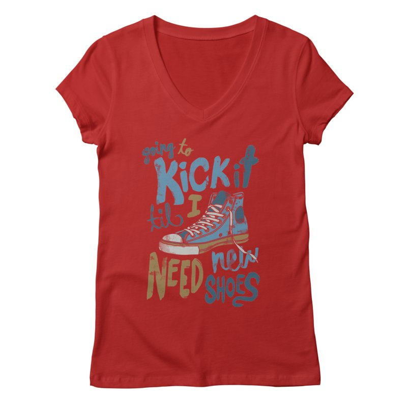 Kick It Women's V-Neck by J D STONE