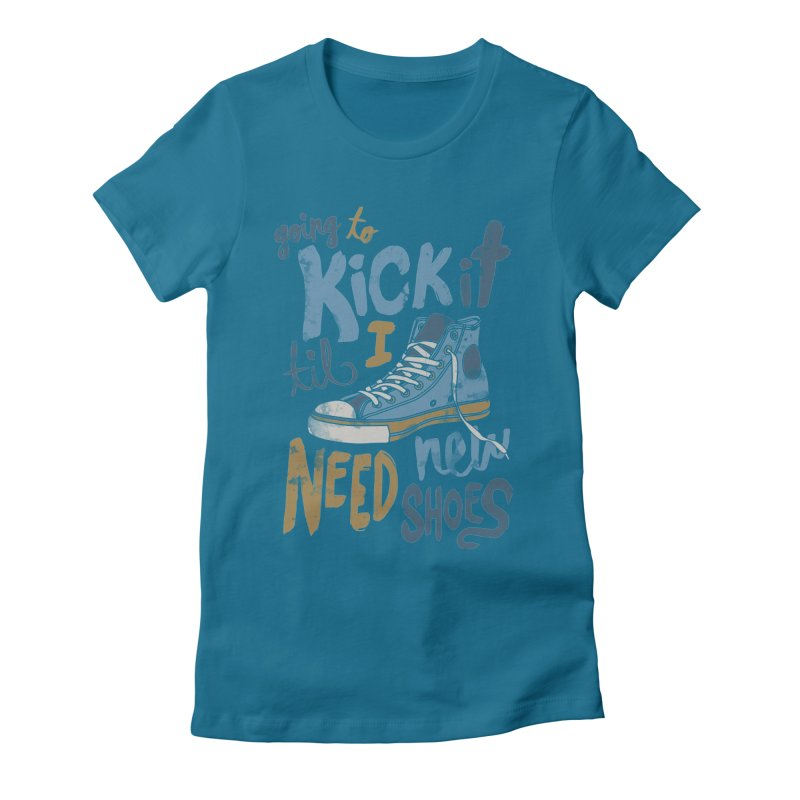 Kick It Women's Fitted T-Shirt by J D STONE