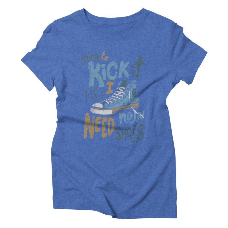 Kick It Women's Triblend T-Shirt by J D STONE