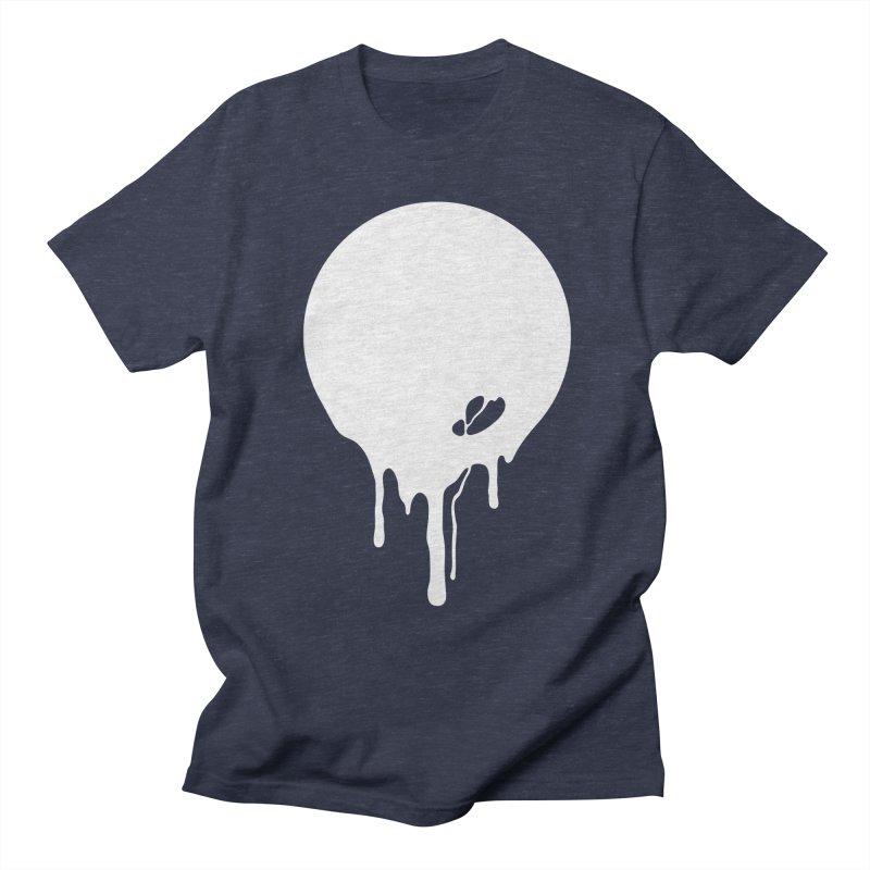 Moon Drip White Women's Regular Unisex T-Shirt by Jean Goode's Artist Shop