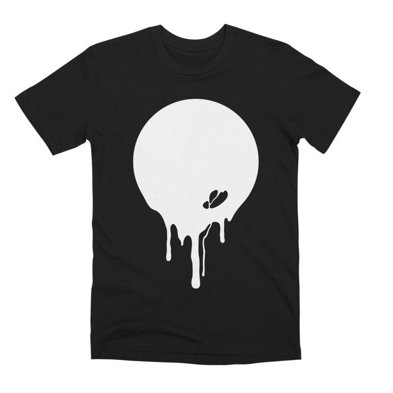 Moon Drip White Men's Premium T-Shirt by Jean Goode's Artist Shop