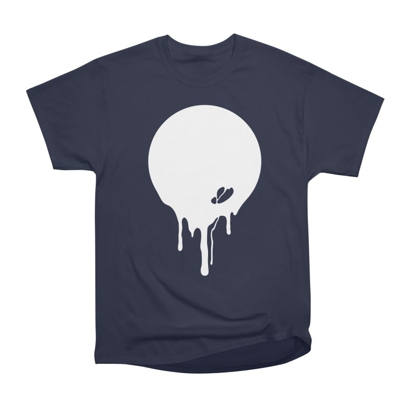 Moon Drip White Men's Heavyweight T-Shirt by Jean Goode's Artist Shop