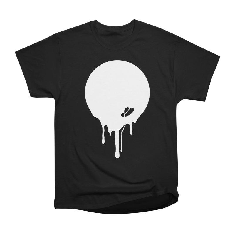Moon Drip White Women's Heavyweight Unisex T-Shirt by Jean Goode's Artist Shop