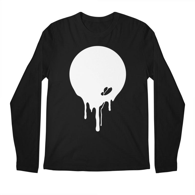 Moon Drip White Men's Regular Longsleeve T-Shirt by Jean Goode's Artist Shop
