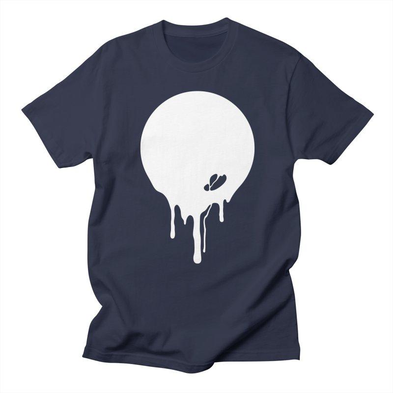 Moon Drip White Men's Regular T-Shirt by Jean Goode's Artist Shop