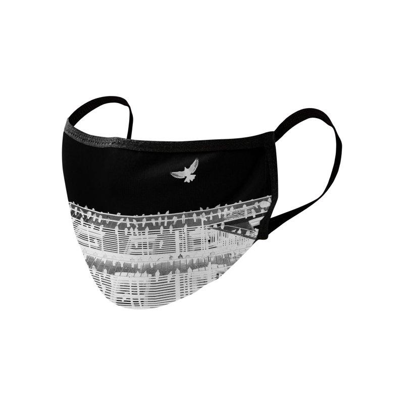 Jean Goode x DotShotIt Birds Mask Accessories Face Mask by Jean Goode's Artist Shop