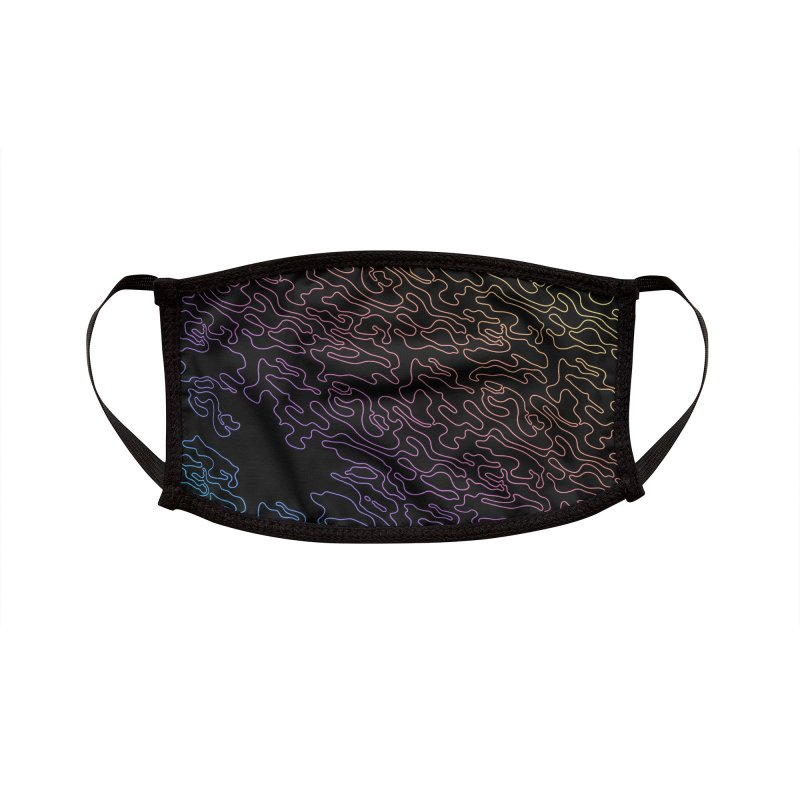 Lucid Dream Camo Dark Mask Accessories Face Mask by Jean Goode's Artist Shop
