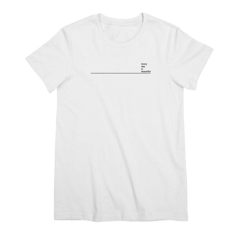 EDIB Line Black Women's T-Shirt by Jean Goode's Artist Shop