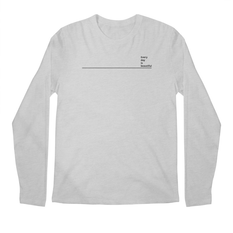 EDIB Line Black Men's Longsleeve T-Shirt by Jean Goode's Artist Shop