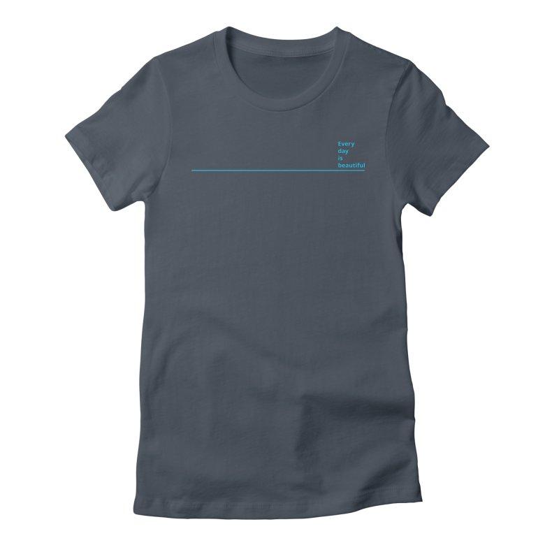 EDIB Line Cyan Women's T-Shirt by Jean Goode's Artist Shop