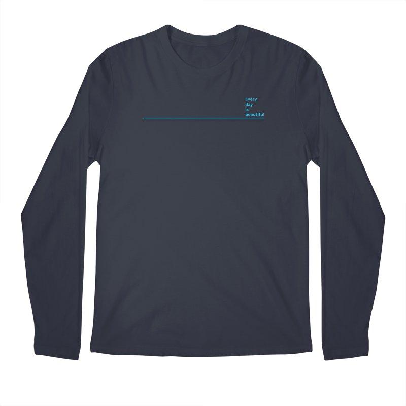 EDIB Line Cyan Men's Longsleeve T-Shirt by Jean Goode's Artist Shop