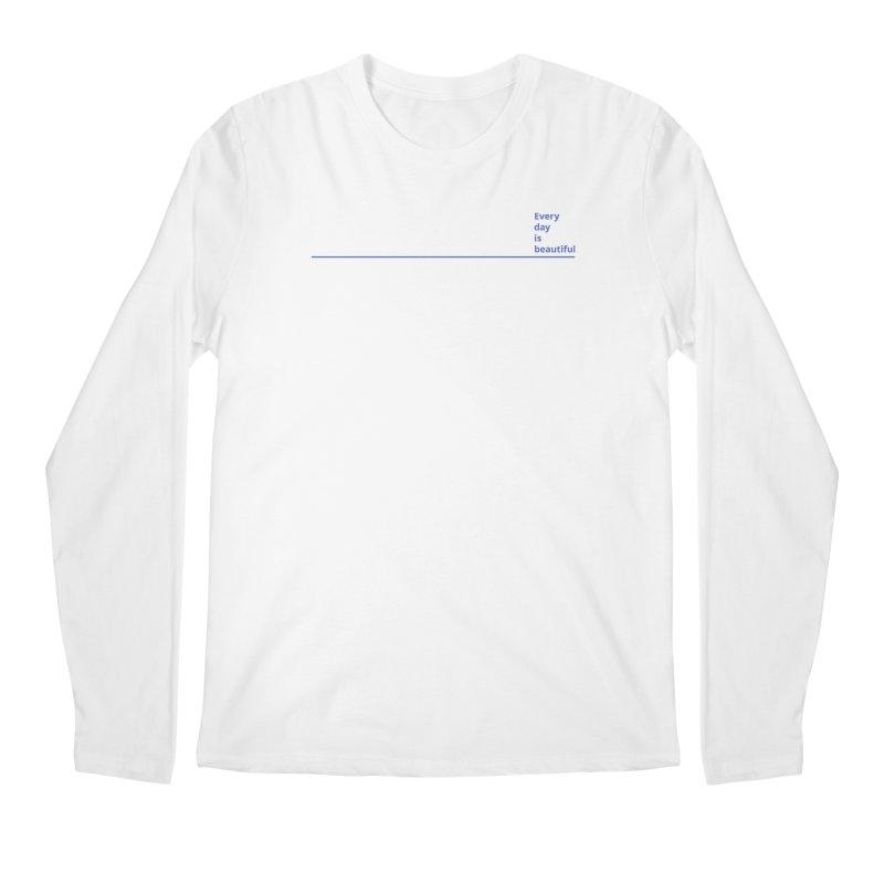 EDIB Line JeGoIndigo Men's Longsleeve T-Shirt by Jean Goode's Artist Shop