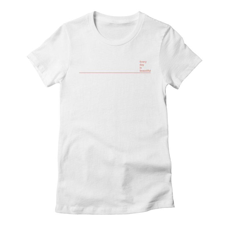 EDIB Line Coral Women's T-Shirt by Jean Goode's Artist Shop