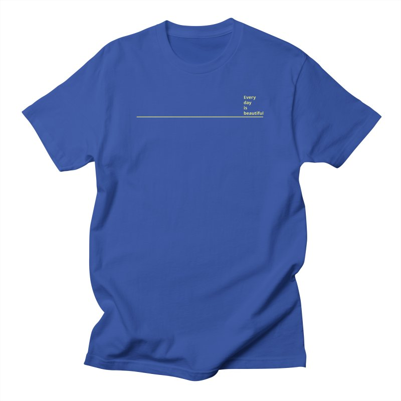 EDIB Line Yellow Men's T-Shirt by Jean Goode's Artist Shop