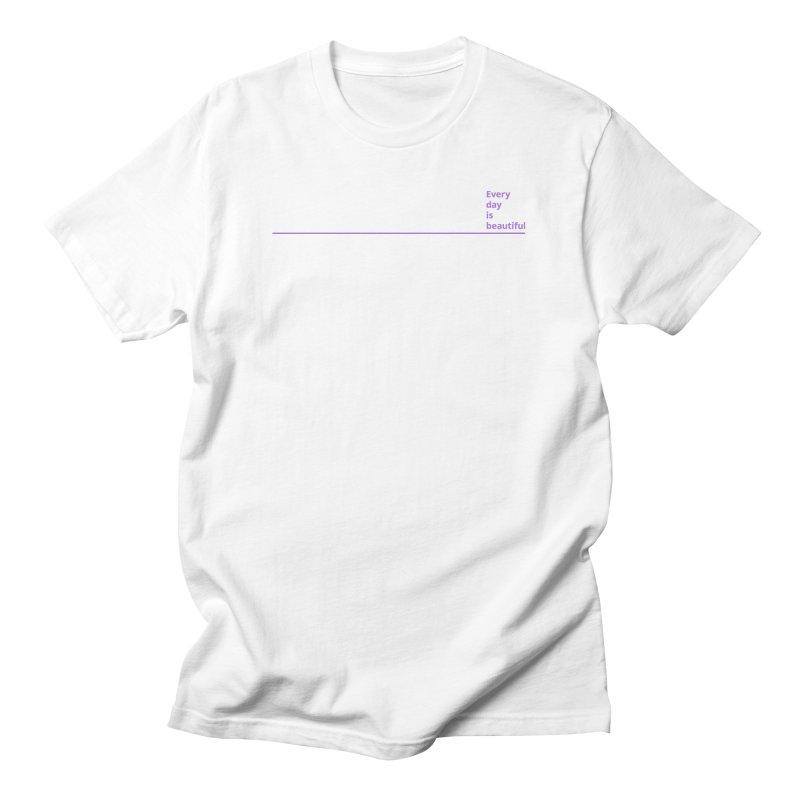 EDIB Line Purple Men's T-Shirt by Jean Goode's Artist Shop