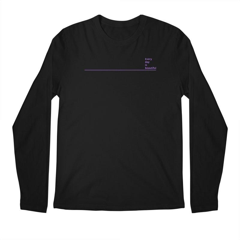 EDIB Line Purple Men's Longsleeve T-Shirt by Jean Goode's Artist Shop