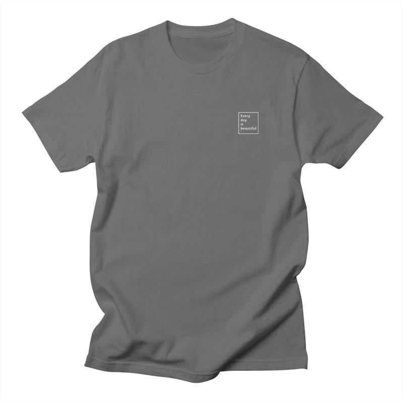 EDIB White Small Logo Men's T-Shirt by Jean Goode's Artist Shop