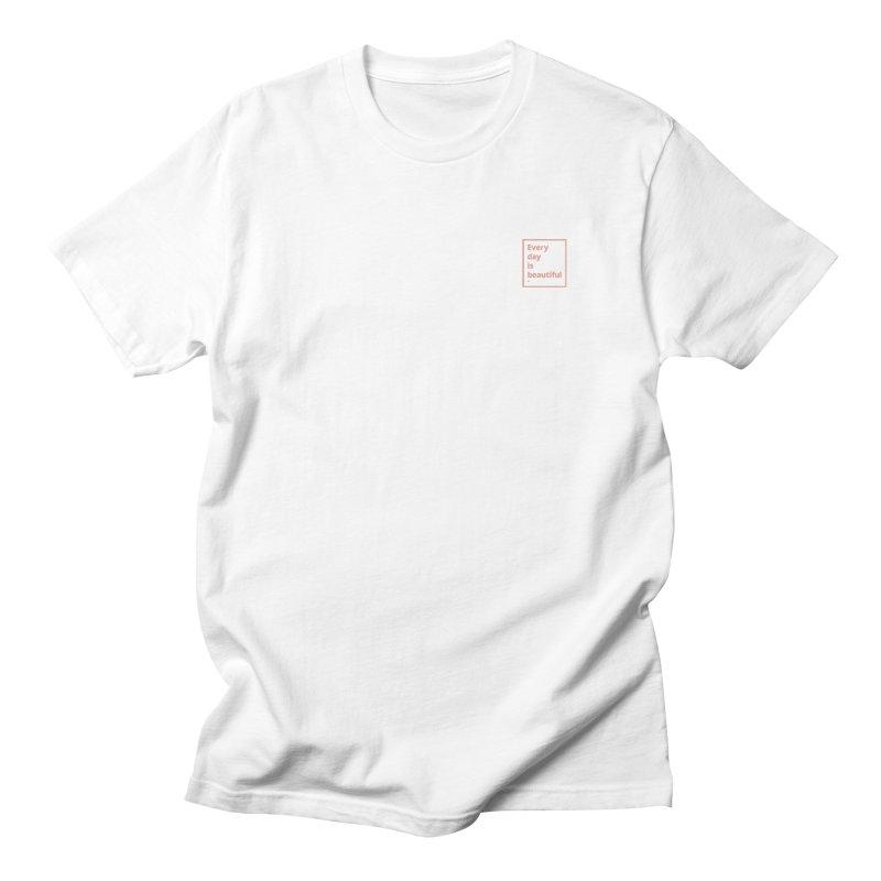 EDIB Coral Small Logo Men's T-Shirt by Jean Goode's Artist Shop