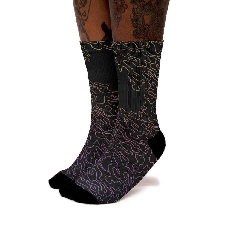 Lucid Dream Camo Socks Women's Socks by Jean Goode's Artist Shop