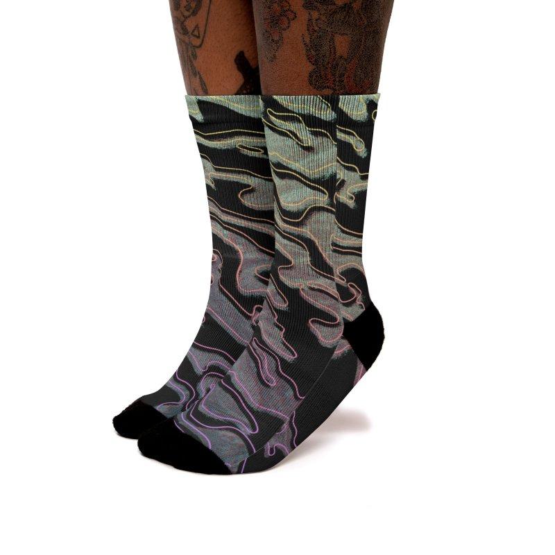 Lucid Dream Camo Glitch Socks Women's Socks by Jean Goode's Artist Shop